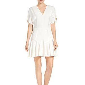 Halston Heritage Short-Sleeve Cream Dress NWT